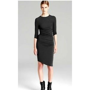 Helmut Lang black quarter length sleeve dress